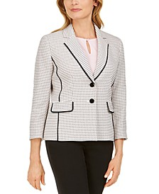 Petite Tweed Two-Button Blazer