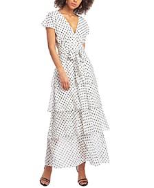 Dot-Print Maxi Dress