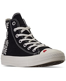 Women's Chuck Taylor All Star High Top Love Fearlessly Casual Sneakers from Finish Line