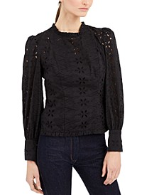 INC Cotton Eyelet Top, Created for Macy's
