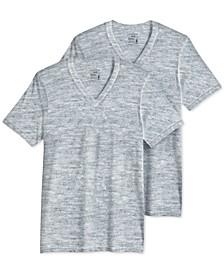 Men's Big & Tall Classic Tagless V-Neck Undershirt 2-pack