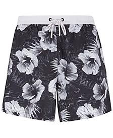 BOSS Men's Piranha Floral-Print Swim Shorts
