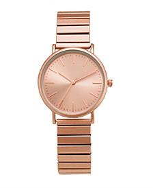 Women's Rose Gold-Tone Expansion Bracelet Watch 34mm