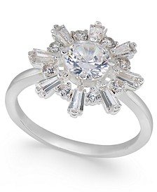 Silver-Tone Crystal Sunburst Ring, Created for Macy's