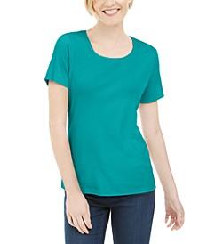 Short Sleeve Scoop Neck Top, Created for Macy's