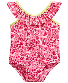 Baby Girls 1-Pc. Floral-Print Swimsuit, Created for Macy's