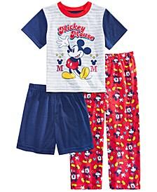 Toddler Boys 3-Pc. Mickey Mouse Pajama Set