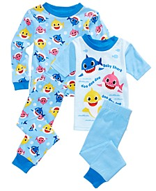 Toddler Boys 4-Pc. Baby Shark Pajamas Set