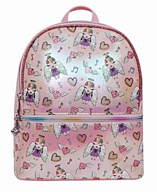 Toddler, Little and Big Kids Angelina Printed Dome Metallic Mini Backpack