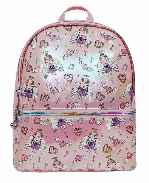 OMG! Accessories Toddler, Little and Big Kids Angelina Printed Dome Metallic Mini Backpack