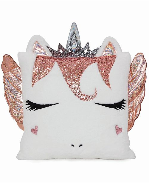 OMG! Accessories Toddler, Little and Big Kids Miss Pegasus Queen Gwen Pillow