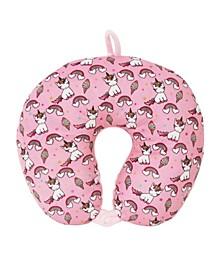 Toddler, Little and Big Kids Lil Miss Gwen Unicorn Sweet Treats Neck Pillow