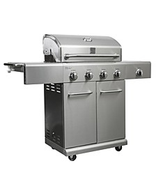 4 Burners Plus Side Burners Stainless Steel Grill