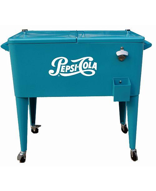 Permasteel 80 Qt. Rolling Patio Cooler Pepsi-Cola Logo