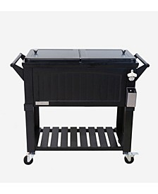 80 Qt. Rolling Patio Cooler, Furniture Style