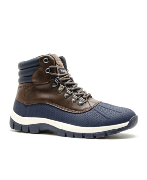 Hawke & Co. Connor Men's Cold Weather Boots With Memory Foam Men's Shoes In Navy