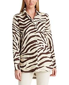 Petite Menswear-Inspired Linen Shirt