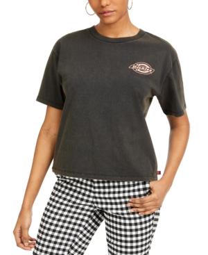 Dickies Junior's Tomboy Logo Graphic T-shirt In Black