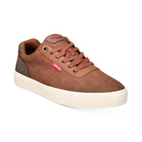 Deals on Levis Mens Miles Waxed Sneakers