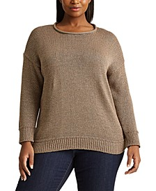 Plus-Size Cotton-Blend Sweater