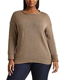 Plus-Size Cotton-Blend Sweater