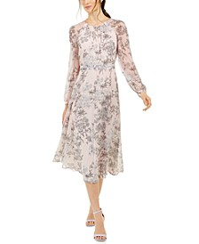 Diana Floral-Print Chiffon Midi Dress, Created for Macy's