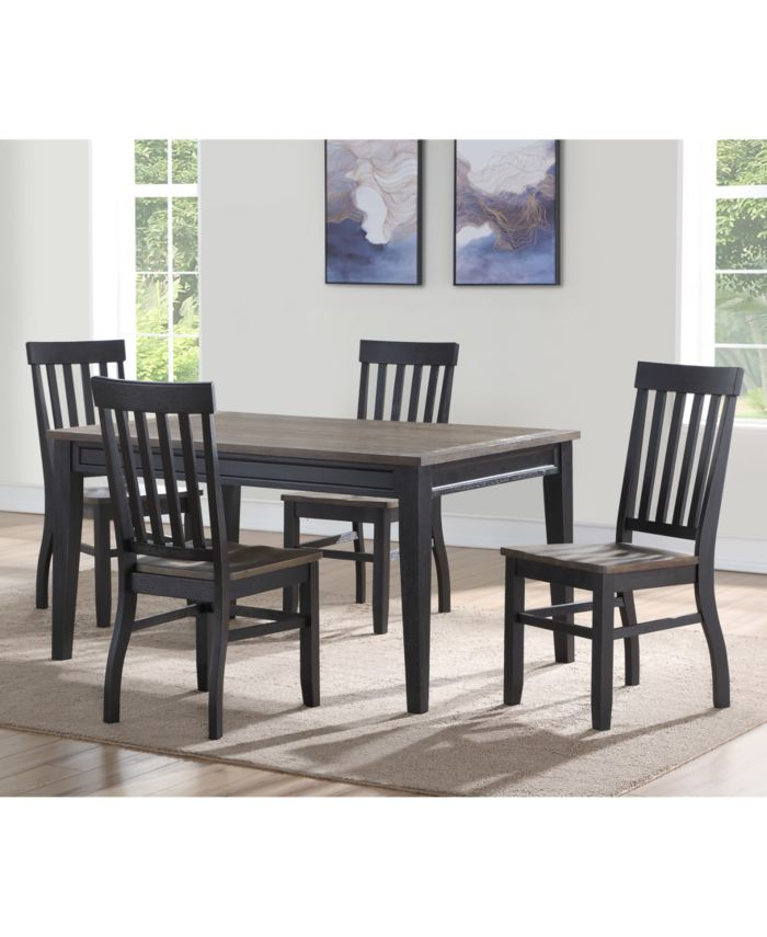 Steve Silver Raven Noir 5-Pc. Dining Set, (Dining Table & 4 Side Chairs) & Reviews - Furniture - Macy's