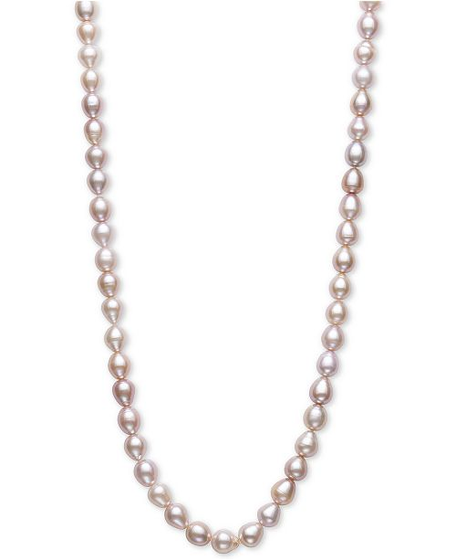 "Macy's Oval Cultured Freshwater Pearl (7-1/2mm) 100"" Endless Strand Necklace"