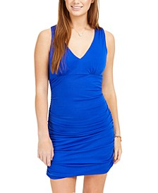Juniors' Ruched Bodycon Dress