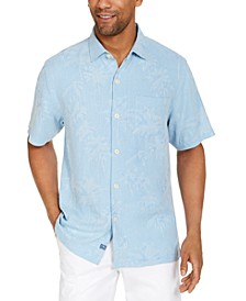 Men's Digital Palms Silk Short Sleeve Camp Shirt