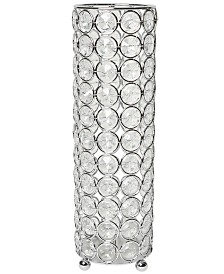 Elipse Crystal Decorative Flower Vase, Candle Holder, Wedding Centerpiece