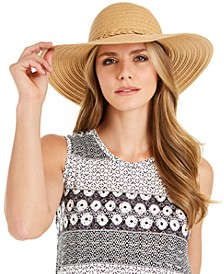 INC Mixed Braid Floppy Hat, Created for Macy's