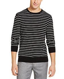 Calvin Klein Men's Striped Liquid Sweater