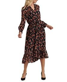 Georgia Floral-Print Midi Dress