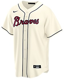 Men's Atlanta Braves Official Blank Replica Jersey