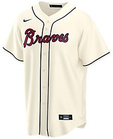 Men's Atlanta Braves Official Blank Replica Jersey