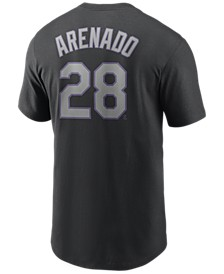Men's Nolan Arenado Colorado Rockies Name and Number Player T-Shirt