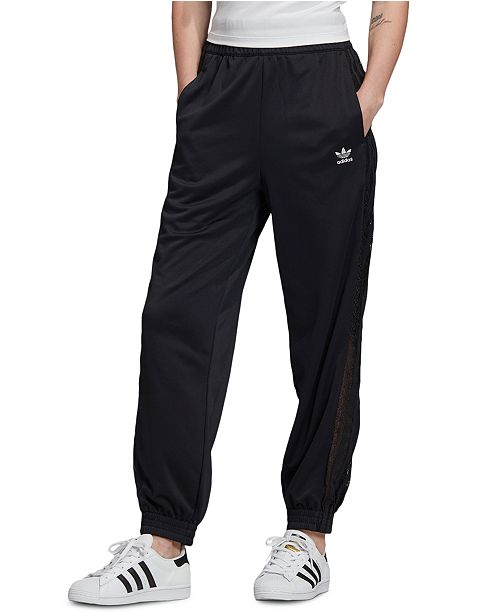 adidas Women's Lace-Trimmed Track Pants