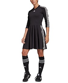 Women's 3-Stripe Pleated Dress