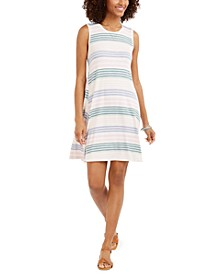 Striped Sleeveless Swing Dress, Created for Macy's