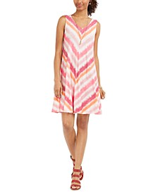 Petite Print Sleeveless Swing Dress, Created for Macy's