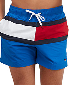"""Tommy Hilfiger Men's Tommy Flag 6.5"""" Swim Trunks, Created for Macy's"""