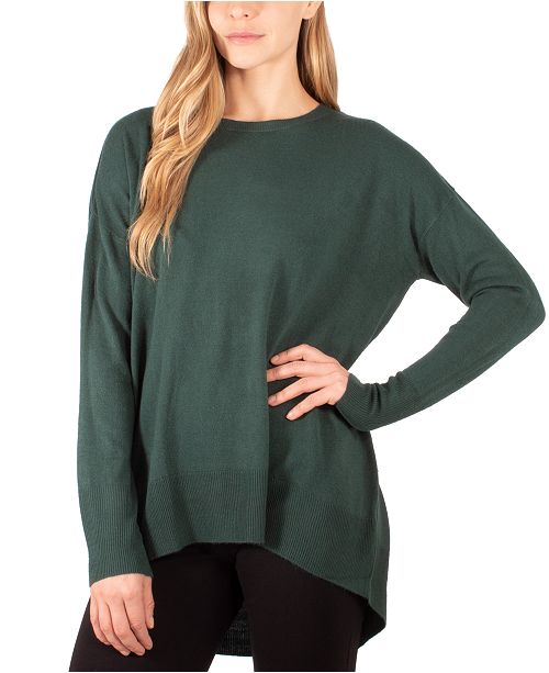NY Collection High-Low Sweater