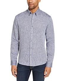 Men's Slim-Fit Linen Shirt