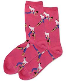 Women's Goat Yoga Crew Socks