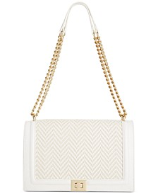 INC Ajae Woven Flap Crossbody, Created for Macy's