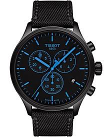 Men's Swiss Chrono XL T-Sport Black Fabric Strap Watch 45mm