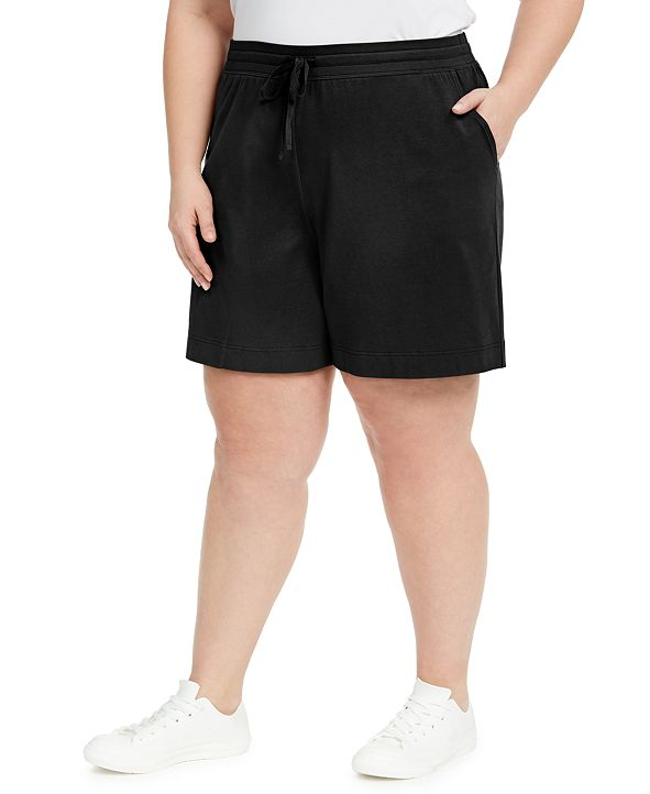 Karen Scott Plus Size Mid-Rise Shorts, Created for Macy's