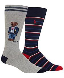 Men's 2-Pk. Bear Socks