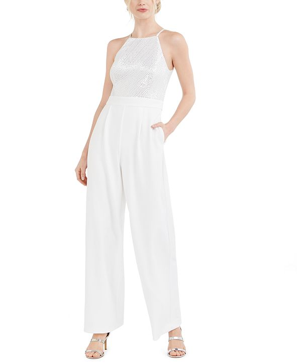 Vince Camuto Sequined Straight-Leg Jumpsuit